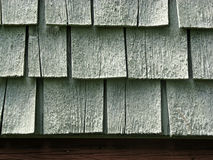 Close-up detail of wood shingles Royalty Free Stock Photo