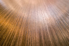 Close up detail of a wooden brown tabletop with lines going in Stock Photography