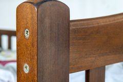 Close-up detail of wooden textured furniture Royalty Free Stock Photos
