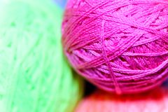 Close up detail of a yarn Royalty Free Stock Photo