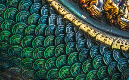 Free Close Up Detailed Shot Of Thai Pattern The King Of Naga Or Serpent Statue At At Wat Rong Sua Ten Or The Blue Temple, Chiang Rai Royalty Free Stock Photography - 140459927