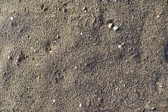 Close up detailed view on sandy ground surfaces in high resolution. Found in germany royalty free stock images
