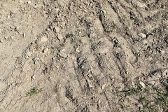 Close up detailed view on sandy ground surfaces in high resolution. Found in germany stock photography