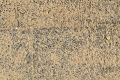 Close up detailed view on sandy ground surfaces in high resolution. Found in germany royalty free stock photo