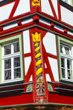 Close-up of detailing at a half-timbered house in Wetzlar, Germany Royalty Free Stock Photos