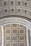 Close up details the Arc de Triomphe in Paris Stock Images