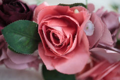 Close up details of artificial flowers on wraith Stock Photography