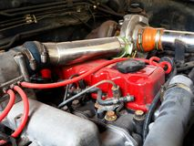 Close up details of car engine. Royalty Free Stock Photos