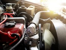 Close up details of car engine. Stock Photography