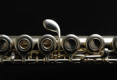Close up details of clarinet. Stock Photography