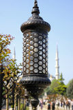 Close up details of lamppost in Istanbul Royalty Free Stock Photos