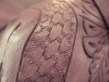 Close-up details of leather woven texture Stock Images