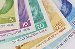 Close-up of Deutsche Mark Royalty Free Stock Images