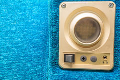 Close up device mounted in train seat Stock Photography