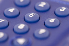 Close up of a dial pad with shallow depth of field Royalty Free Stock Image