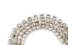 Close-up of diamond bracelet. On white Stock Photos