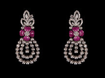 Close up of diamond earring Royalty Free Stock Photography