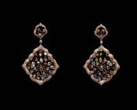 Close up of diamond earrings Royalty Free Stock Photography