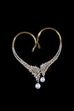 Close up of diamond necklace Royalty Free Stock Photography