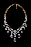 Close up of diamond necklace Royalty Free Stock Images