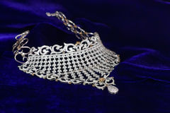 Close up of diamond necklace Royalty Free Stock Image
