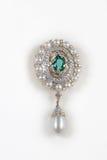 Close-up of diamond pearl earring Stock Photos