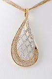 Close up of diamond pendant Royalty Free Stock Photo