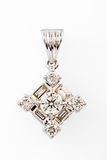 Close up of diamond pendant or earring stock images