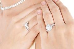 Close up diamond ring Royalty Free Stock Photography