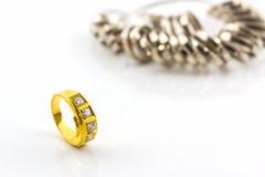 Close up Diamond ring . Stock Photography