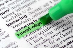 Close Up of Highlighting Specific Word Knowledge. Close up dictionary word concept definition highlighting knowledge Royalty Free Stock Photography