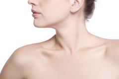 Close-up die van hals en schouder is ontsproten Royalty-vrije Stock Foto's