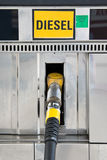 Close up of a diesel gas pump Stock Photo