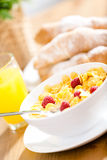 Close up of dieting breakfast with muesli Royalty Free Stock Photos