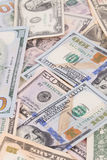 Close up of different dollar bills. Royalty Free Stock Photos
