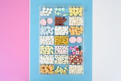 Close up of different medication Royalty Free Stock Image