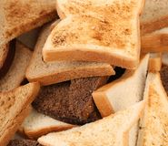 Close up of different sliced bread Royalty Free Stock Image