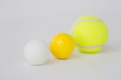 Close up of different sports balls set Stock Photos