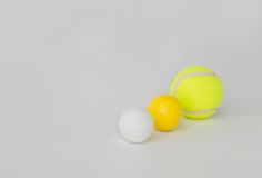 Close up of different sports balls set Royalty Free Stock Photo