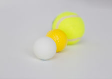 Close up of different sports balls set Stock Photography