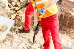 Close-up of digging Royalty Free Stock Image