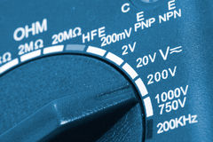 Close-up of a digital multimeter Royalty Free Stock Photo