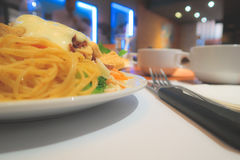 Close-Up Dinner Pasta and Salad Bar Stock Images