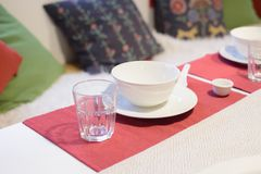Dinner set on the table Royalty Free Stock Image
