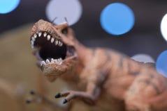 Close Up Dinosaur Sculpture stock photo