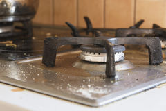 Close up of a dirty burner Stock Photography