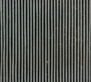 Close up at dirty car air filter. Royalty Free Stock Images