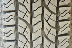 Close up on dirty tire foot print Royalty Free Stock Photos