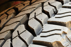 Close up on dirty tire line Royalty Free Stock Images