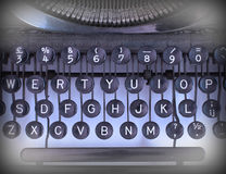 Close up of a dirty vintage typewriter Royalty Free Stock Image